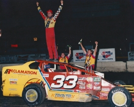 """After 20 years, the crown finally fit as """"The Jeffer"""" captured his first ever OCFS Modified Championship!"""