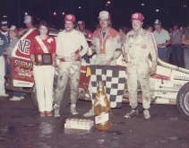 """The Jeffer"" is victorious over dirt track legends Jimmy Horton and Danny Johnson."