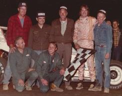 """""""The Jeffer"""" celebrates career victory #1 aboard the Ken Slingerland owned #25 car."""
