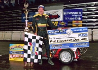 """The Jeffer"" wins the Gamblers Classic TQ Midget Championship at Boardwalk Hall in Atlantic City."