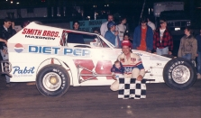 """The Jeffer"" and son Jeff Jr. in victory lane at OCFS."