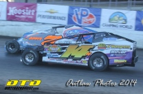 The Jeffer Jeff Heotzler and Rick Labauch race down the front stretch at the New York State Fairgrounds