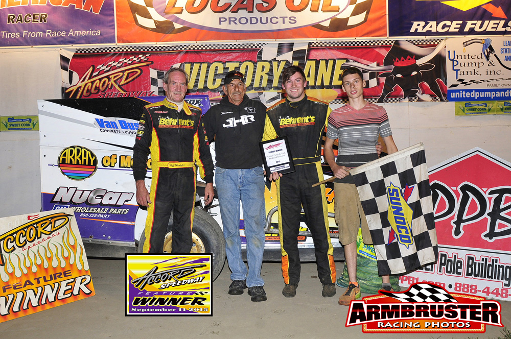 Jeff Heotzler Sr. Accord Speedway Track Champion - Jeff Heotzler Jr. Feature Winner