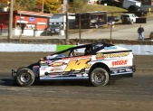 """The Jeffer"" Jeff Heotzler during Modified Time-Trials at the Orange County Fair Speedway!"