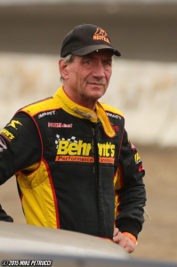 """""""The Jeffer"""" Jeff Heotzler before the start of the Eastern States 200."""