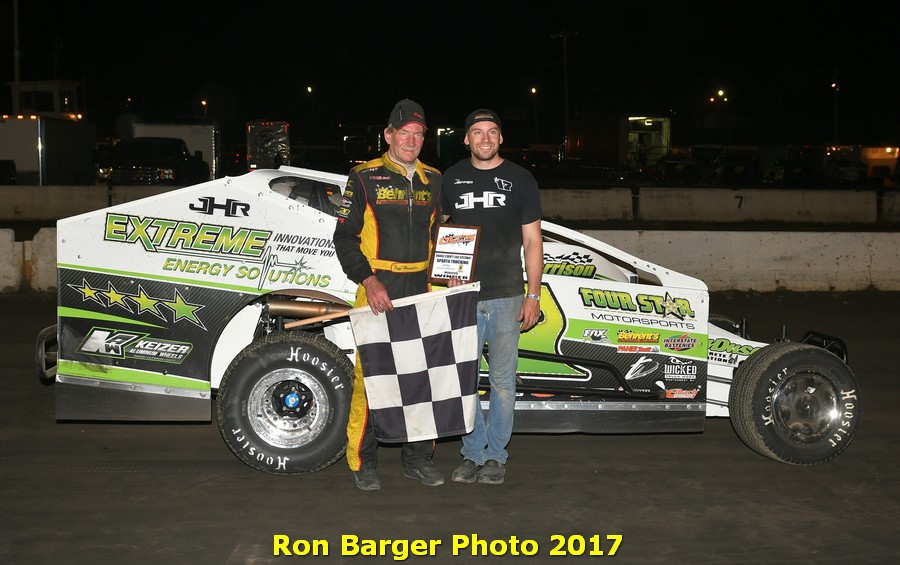 The Jeffer Jeff Heotzler Scores His 51st Career Big Block Modified Win at the Orange County Fair Speedway on June 17th, 2017!